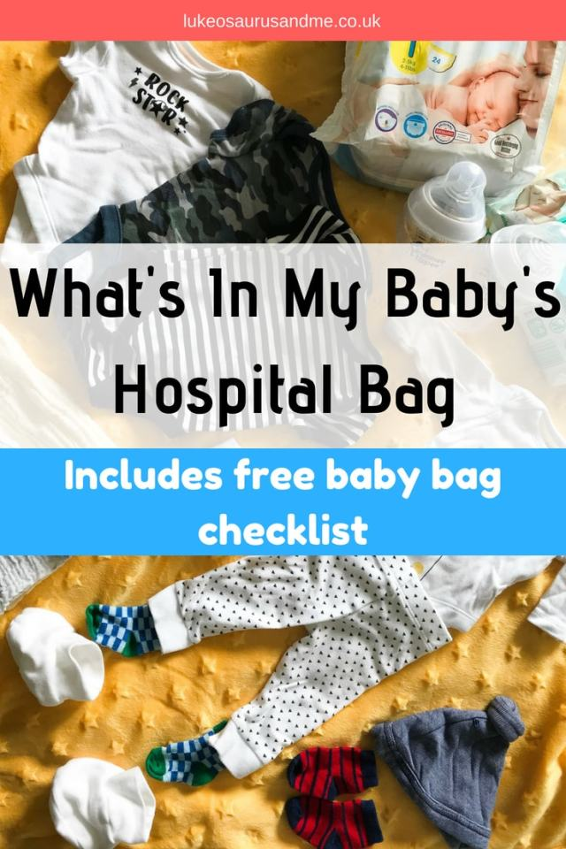 What to pack in your baby's hospital bag during pregnancy for when you go into labour at https://lukeosaurusandme.co.uk