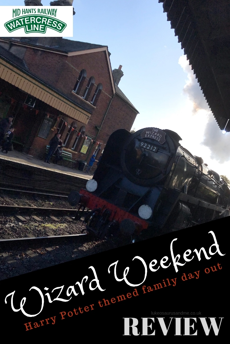 Wizard Weekend - a Harry Poter themed day out at The Water Cress Line review at https://lukeosaurusandme.co.uk