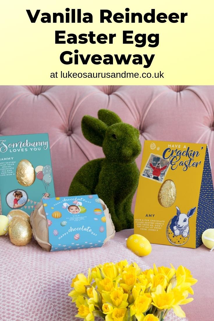 Vanilla Reindeer easter egg giveaway at https://lukeosaurusandme.co.uk