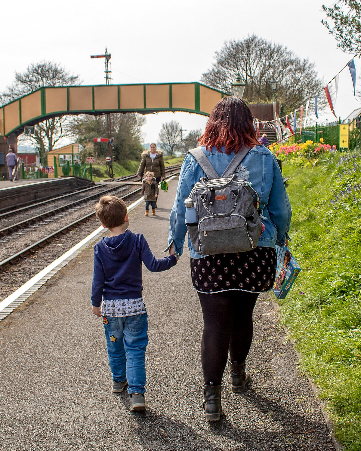 Luke and I at Ropley station during the Watercress Line's Day Out With Thomas Easter event. Read full review at https://lukeosaurusandme.co.uk