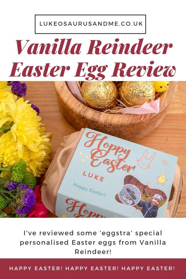 'Eggstra' Special Easter Eggs From Vanilla Reindeer. Review at https://lukeosaurusandme.co.uk