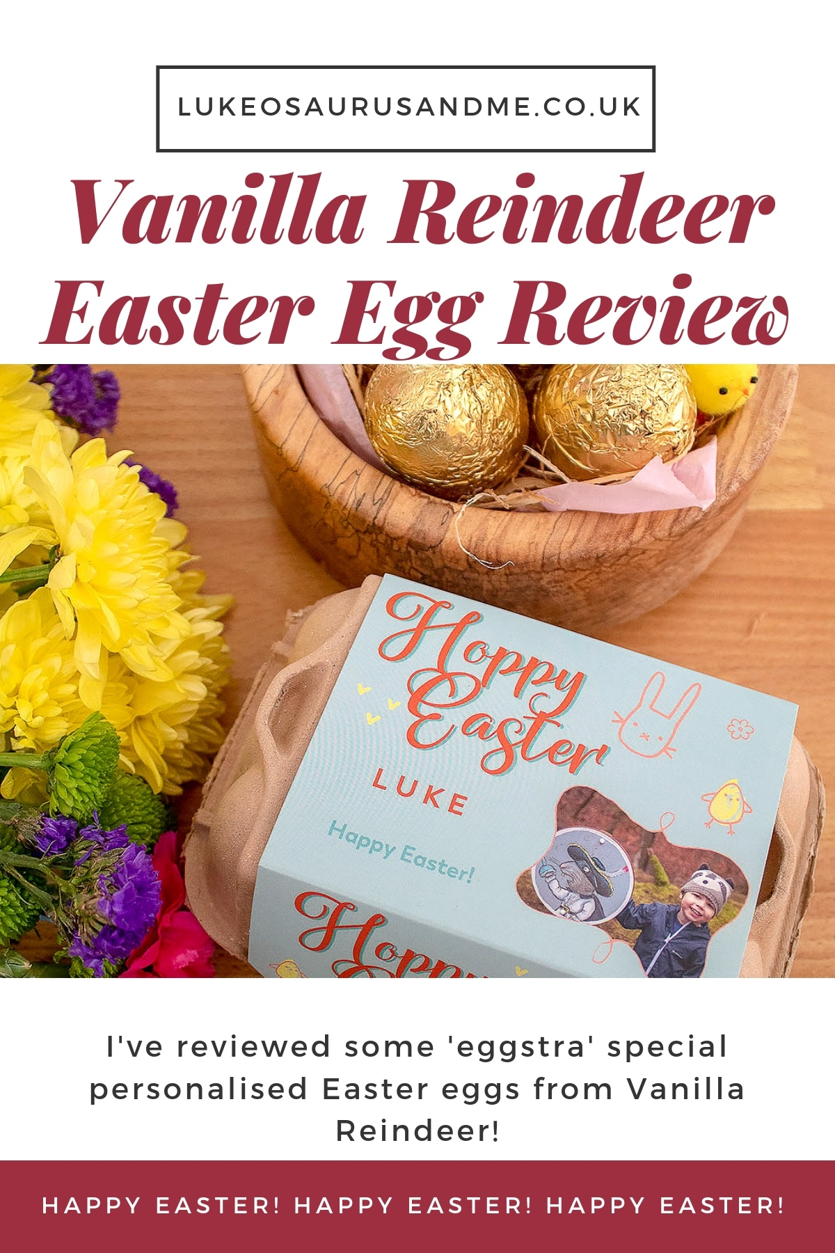 'Eggstra' Special Easter Eggs From Vanilla Reindeer. Review at https://lukeosaurusandme.co.uk