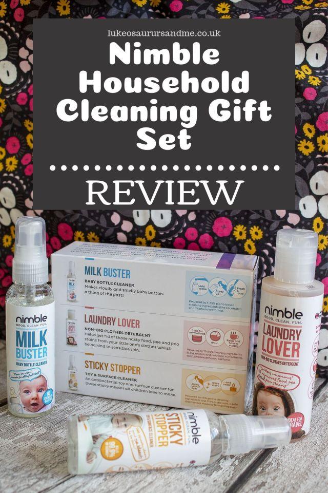 Nimble Household Cleaning Gift Set review at https://lukeosaurusandme.co.uk