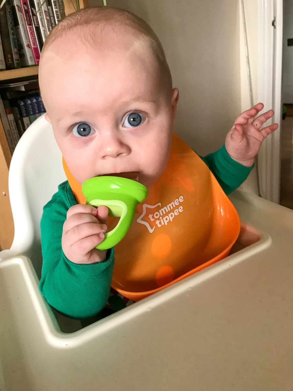 Baby led weaning journey at 9 months - https://lukeosaurusandme.co.uk