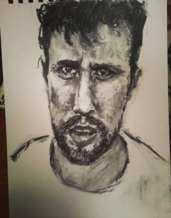 This was an OK sketch done for redditgetsdrawn. If you're not familiar with this it's a subreddit where people submit their photos to be drawn by whoever. Good for practice. I wasn't too happy with this as his face came out too long, but never mind.