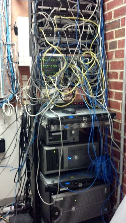 small resolution of from a rats nest into a server closet how we cleaned up a major wiring diagram cluster mess wiring