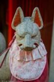 "Inari (""fox"") kami statue, Ueno Park"