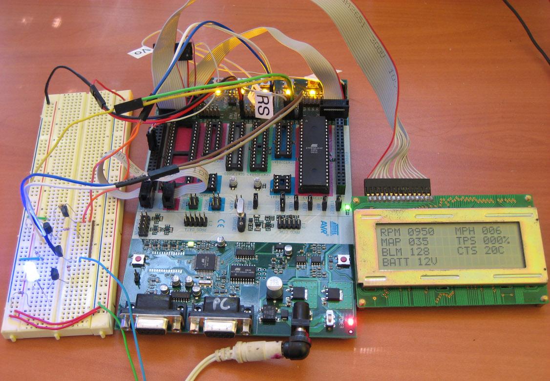 hight resolution of gm obd i aldl avr lcd interface pulling data off a 7730 8d ecu