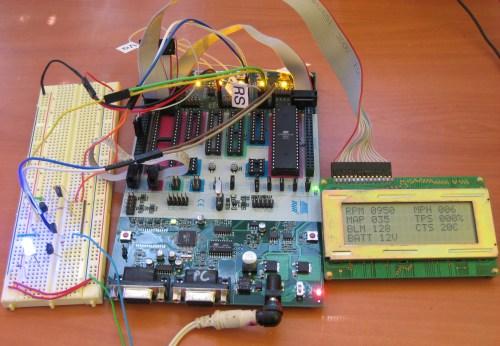 small resolution of gm obd i aldl avr lcd interface pulling data off a 7730 8d ecu