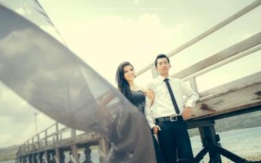 prewedding gaun hitam