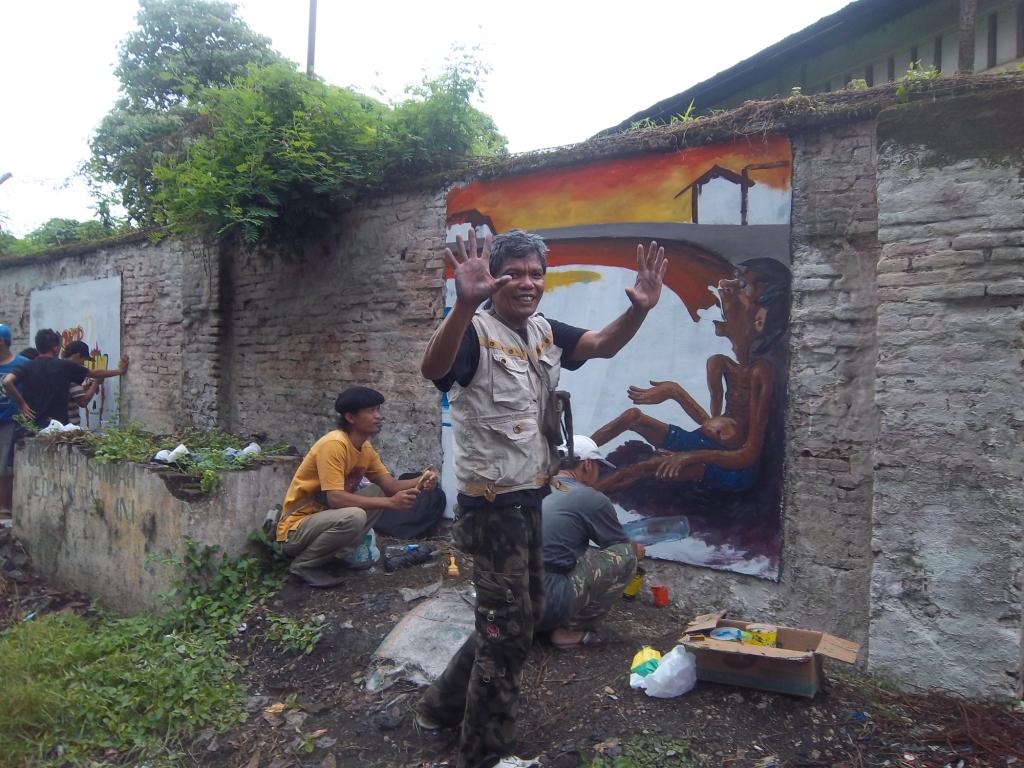 Gambar Lukisan Mural dan Grafiti  Lukisan untuk Anakanak