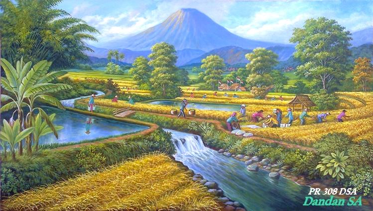 Lukisan Pemandangan Alam Terbaik  Koleksi Gambar HD