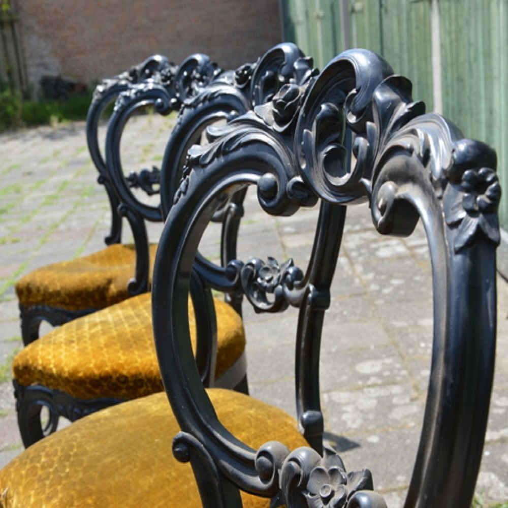prachtige barokke eetkamerstoelen