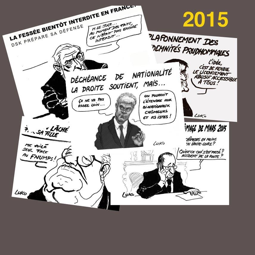 Dessin d'actualité 2015