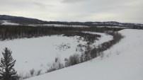 Doch das Tal ist nur gefuellt mit Schnee und Weite.