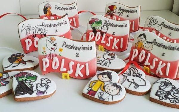 lukrowane ciasteczka na zamówienie, pierniczki Pozdrowienia z Polski z Polskimi Bajkami - Basia sweets
