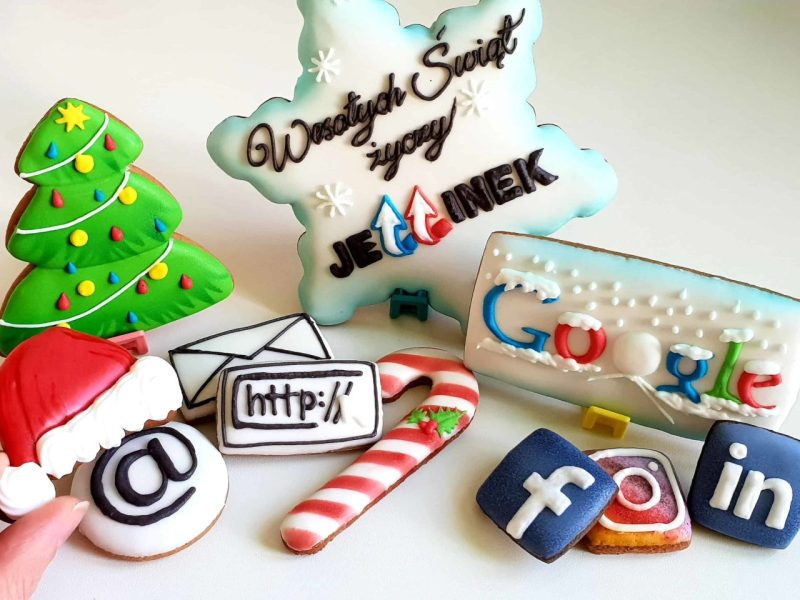 Pierniki reklamowe - Duża śnieżynka z logo, Świąteczne ciasteczka, Lukrowane pierniczki z logo, ciastka bożonarodzeniowe dla firm, personalizowane zestawy świąteczne dla firm - Basia sweets