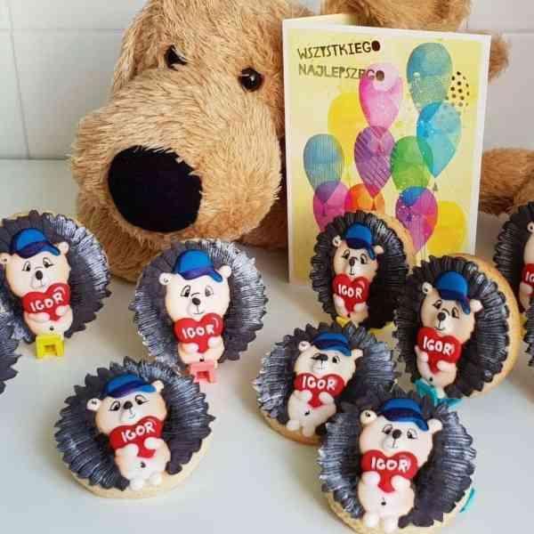 Lukrowane ciasteczka z grafiką, Lublin, Jeżyki, personalizowane pierniczki, podziękowania dla gości - Basia sweets