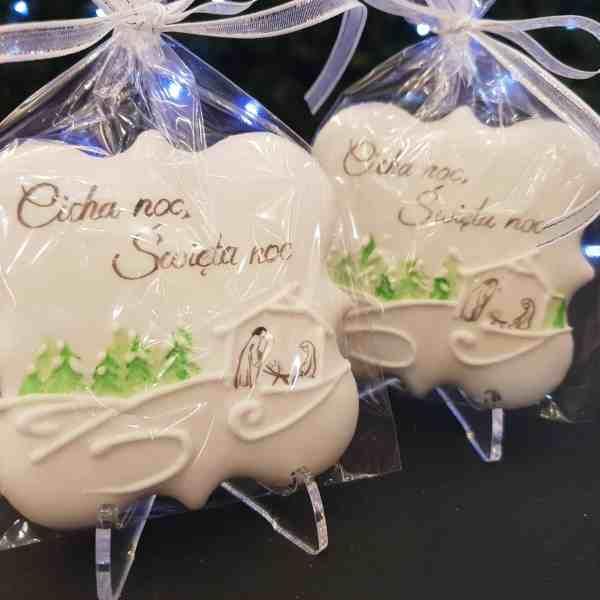 Świąteczne ciasteczka, Lukrowane ciasteczka Bożonarodzeniowe, lukrowane pierniczki na choinkę, Cicha Noc, Święta Noc - Basia sweets