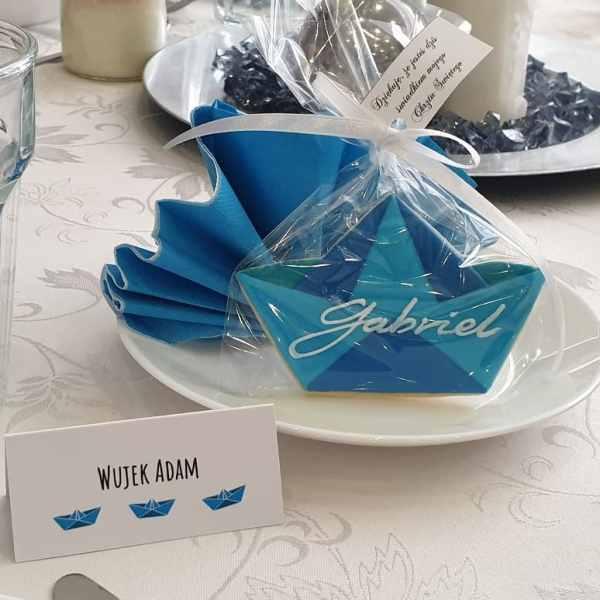 Ciasteczka na chrzest, podziękowania dla gości - Basia sweets