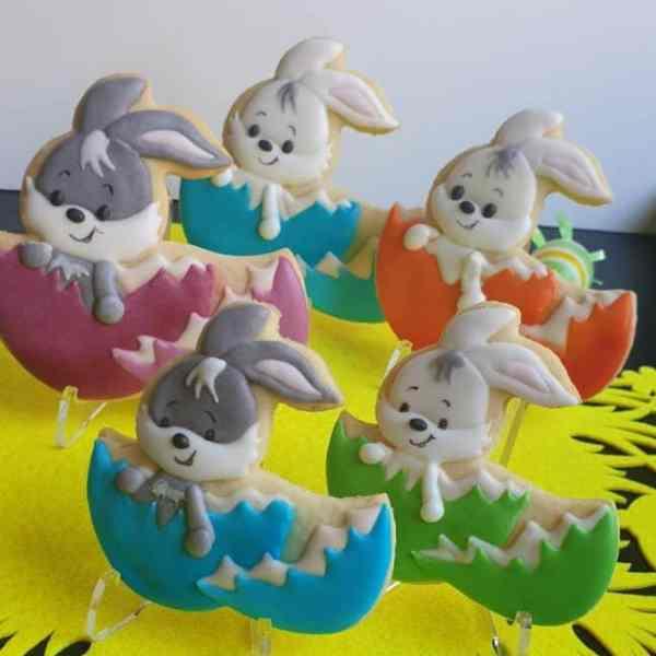Ciasteczka Wielkanocne, wielkanocne króliczki, Wielkanoc, upominek dla gości, lukrowane ciasteczka Basia sweets