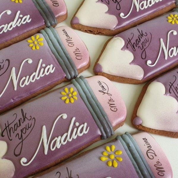 Koniec roku szkolnego, podziękowanie dla nauczycieli, lukrowane pierniki Basia sweets, pierniki dekoracyjne, pierniki personalizowane, pierniki na zamówienie,