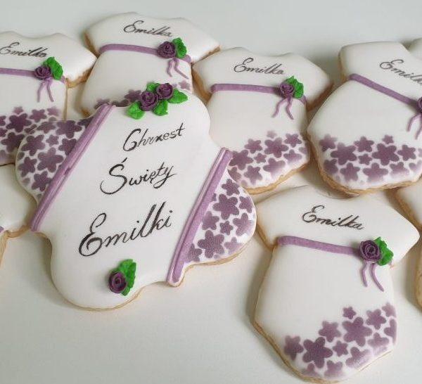Podziękowanie na chrzest, ciasteczka na chrzest, Lukrowane ciasteczka Basia sweets