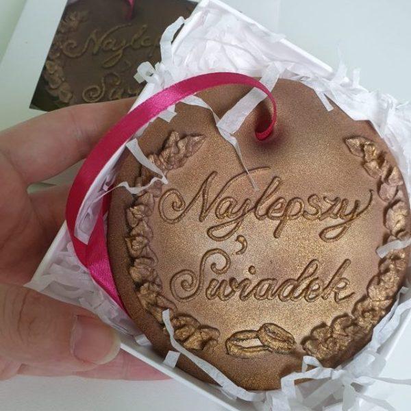 Najlepszy Świadek, medal dla świadka Lukrowane ciasteczka Basia sweets