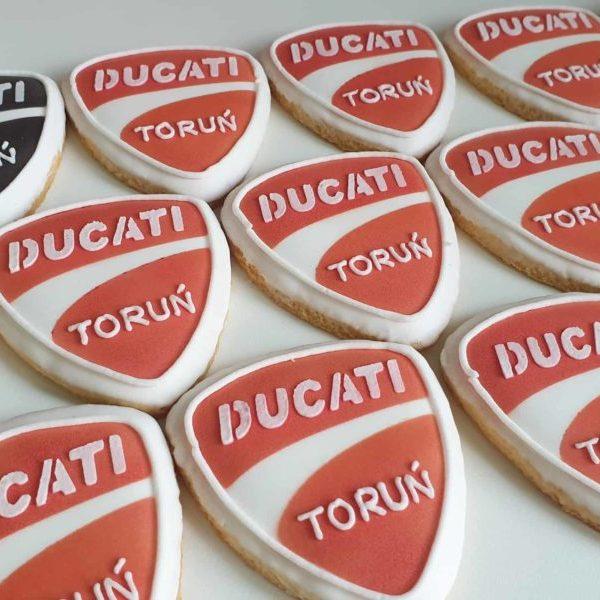 Lukrowane ciasteczka, ciastka reklamowe, ducati, ciasteczka z logo, ręcznie dekorowane ciasteczka Basia sweets