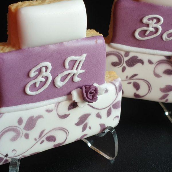 ciastka ślubne, podziękowania dla gości, lukrowane ciasteczka ślubne, personalizowane ciastka Basia sweets