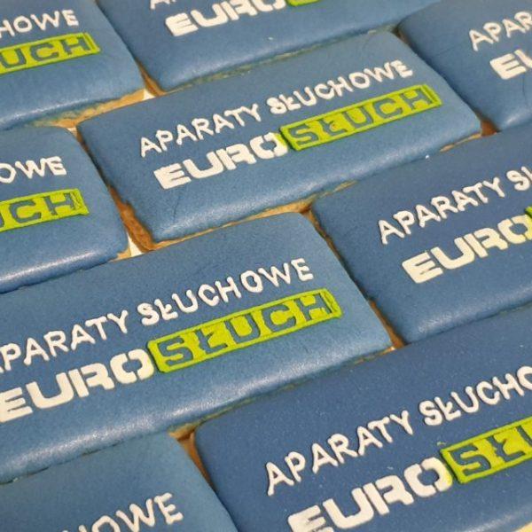 ciastka reklamowe, ciasteczka z logo, lukrowane ciasteczka, eurosłuch, ręcznie dekorowane ciasteczka - Basia sweets