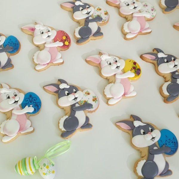 Ciasteczka wielkanocne, lukrowane ciasteczka na zamówienie, dekoracje wielkanocne, króliczek wielkanocny Basia sweets