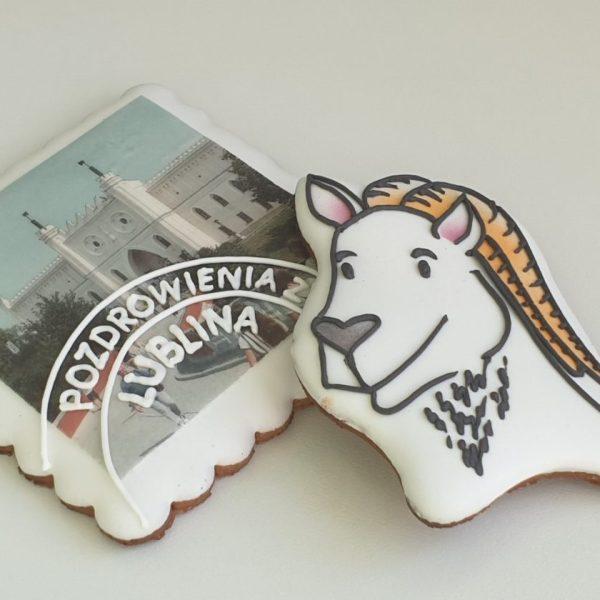 pierniki lubelskie, Lublin, pierniki pamiątkowe, Koziołek Lubelski, ręcznie lukrowane pierniki - Basia sweets
