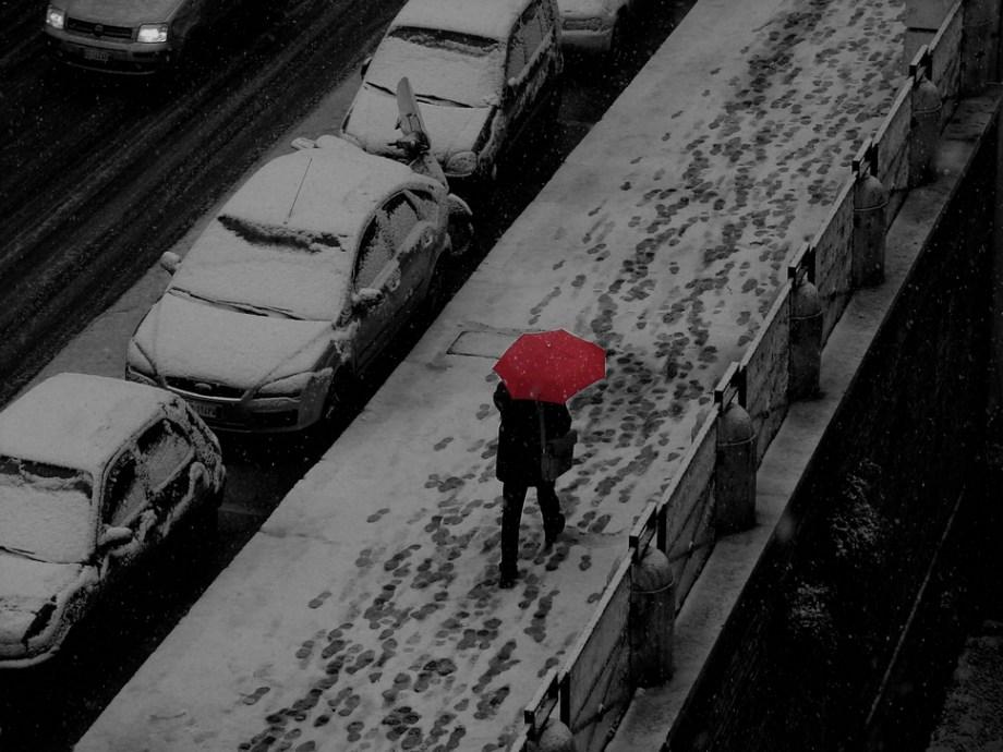 red.walking.in.white