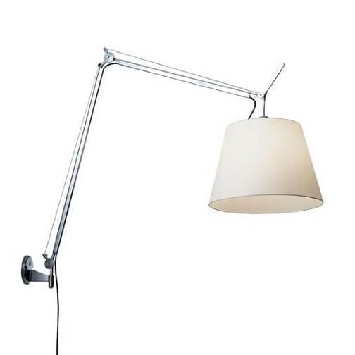 Vegglampe: Tolomeo Mega Vegglampe Alu/Hvit - Artemide