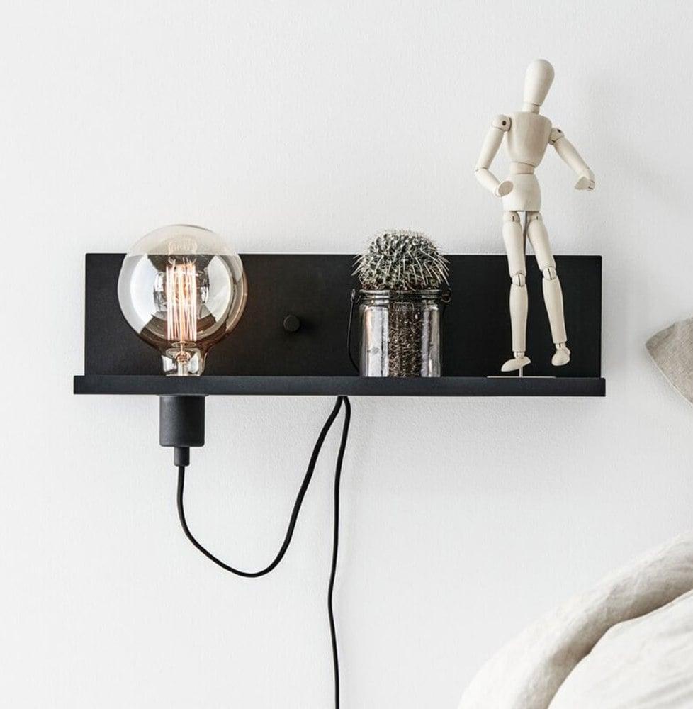 Vegglampe: Moderne LED-vegglampe Multi USB - m ladetilkobling