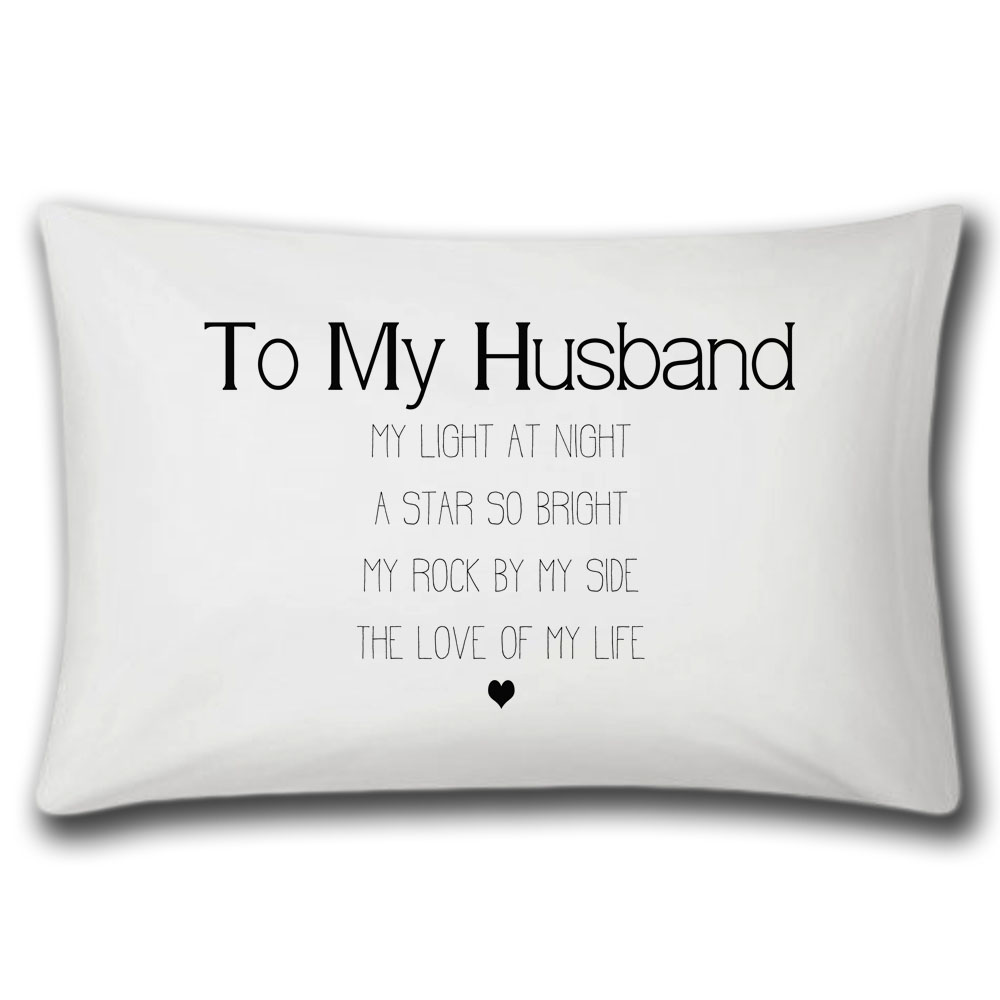 Husband Love Of My Life Pillow Case Lulah Blu