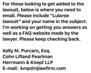 LuLaRoe Class Action Lawsuit - How to contact one attorney