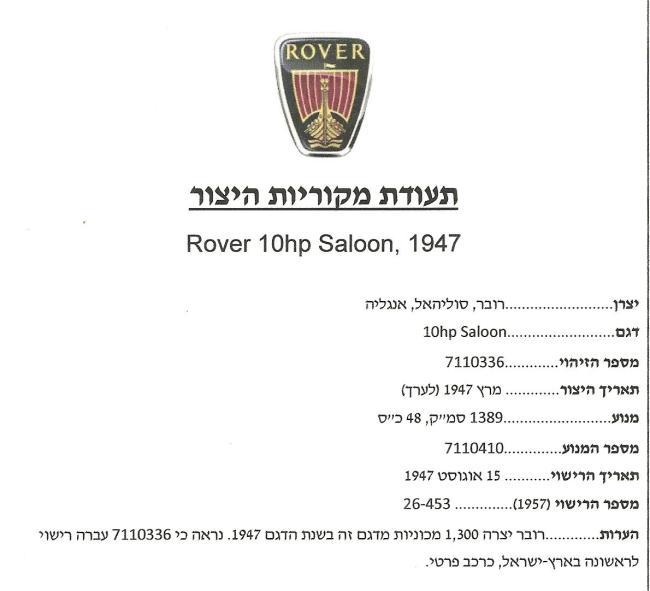 IMI1053 Rover 7110336