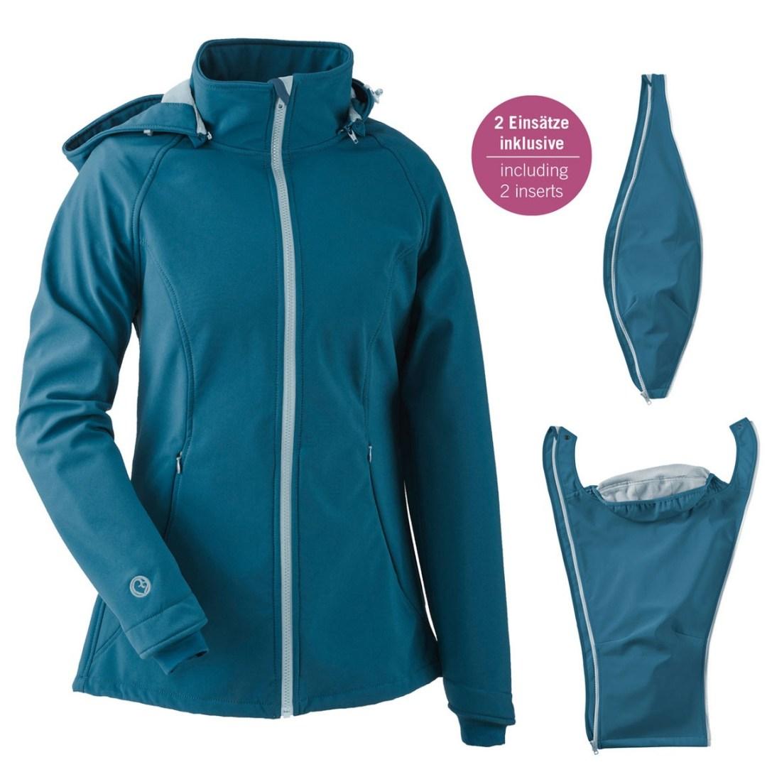 veste de maternité portage gorssesse mamalila softshell imperméable chaude coupe-vent