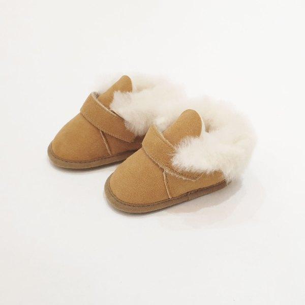 chaussons pour bébé peau de mouton
