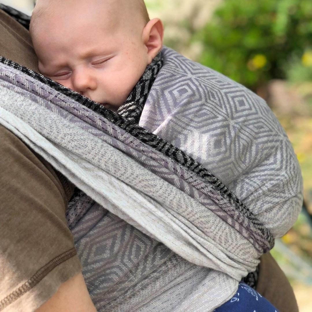 sling little frog monochrome cube écharpe de portage bébé sans nouage porte-bébé facile sans noeud dès la naissance