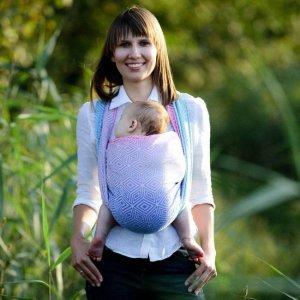 écharpe de portage bébé little frog tissée dès la naissance aurora cube