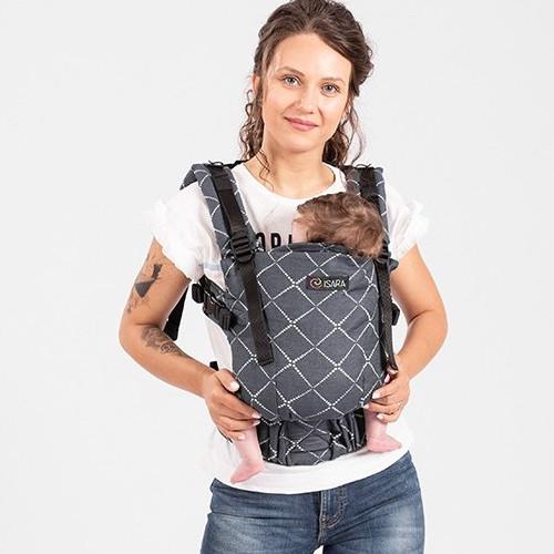 Porte-bébé The One Isara - physiologique évolutif jusqu'à 3 ans facile d'utilisation confortable ergonomique