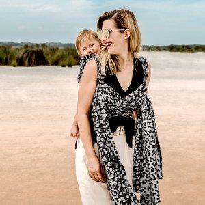 écharpe de portage tissée fidella coton bio leopard argenté taille 6