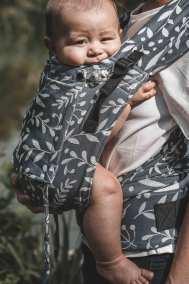 Porte-bébé physiologique évolutif - Limas Plus - Flora Cool Grey
