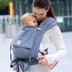 porte-bébé évolutif physiologique Limas Gris Bleu mei-tai hybride confortable