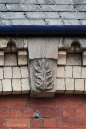 A leaf carved in stone