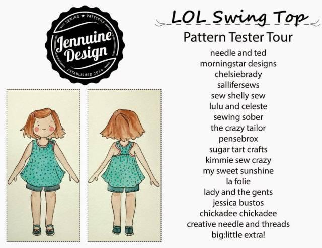 LOL Swing top by Jennuine Design