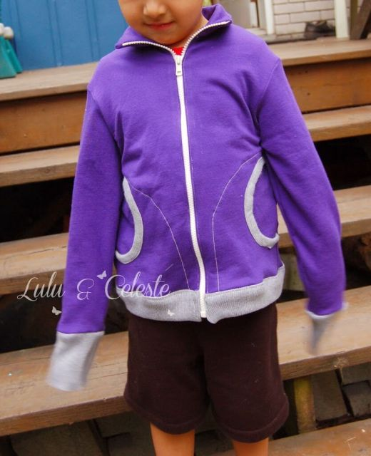 Zippy Jacket pattern by Blank Slate made by Lulu&Celeste